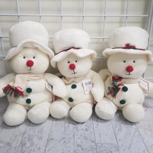 Russ Other - NEW Russ Berrie Baby Soft Plush Snowmen-3